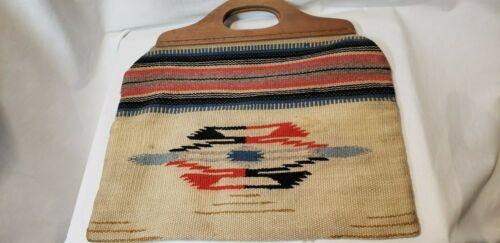 Vintage Chimayo Woven Wool Handbag Native Fred Harvey El Grandee