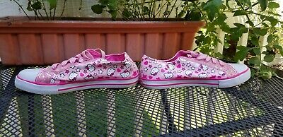 Pink Hello Kitty Shoes Uk Size 5 Sparkly Sanrio Sneakers Tennis Shoes US Size 7