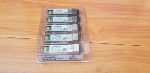 Lot of 5 New Genuine Cisco SFP-10G-SR-S 10-3105-01 Transceiver Modules