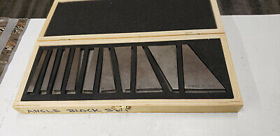 10-pc Cbl0306 Machinist Angle Gage Block Set In Box. Made In China