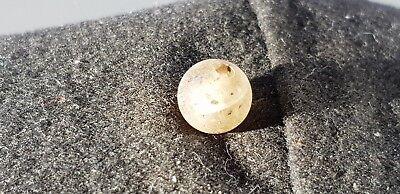 Viking amber egg yolk type bead Beautiful Ancient artifact & very wearable L57x