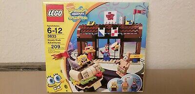 New LEGO SpongeBob 3833 Krusty Krab Adventures 209pcs $rAzr Gr8 Condition