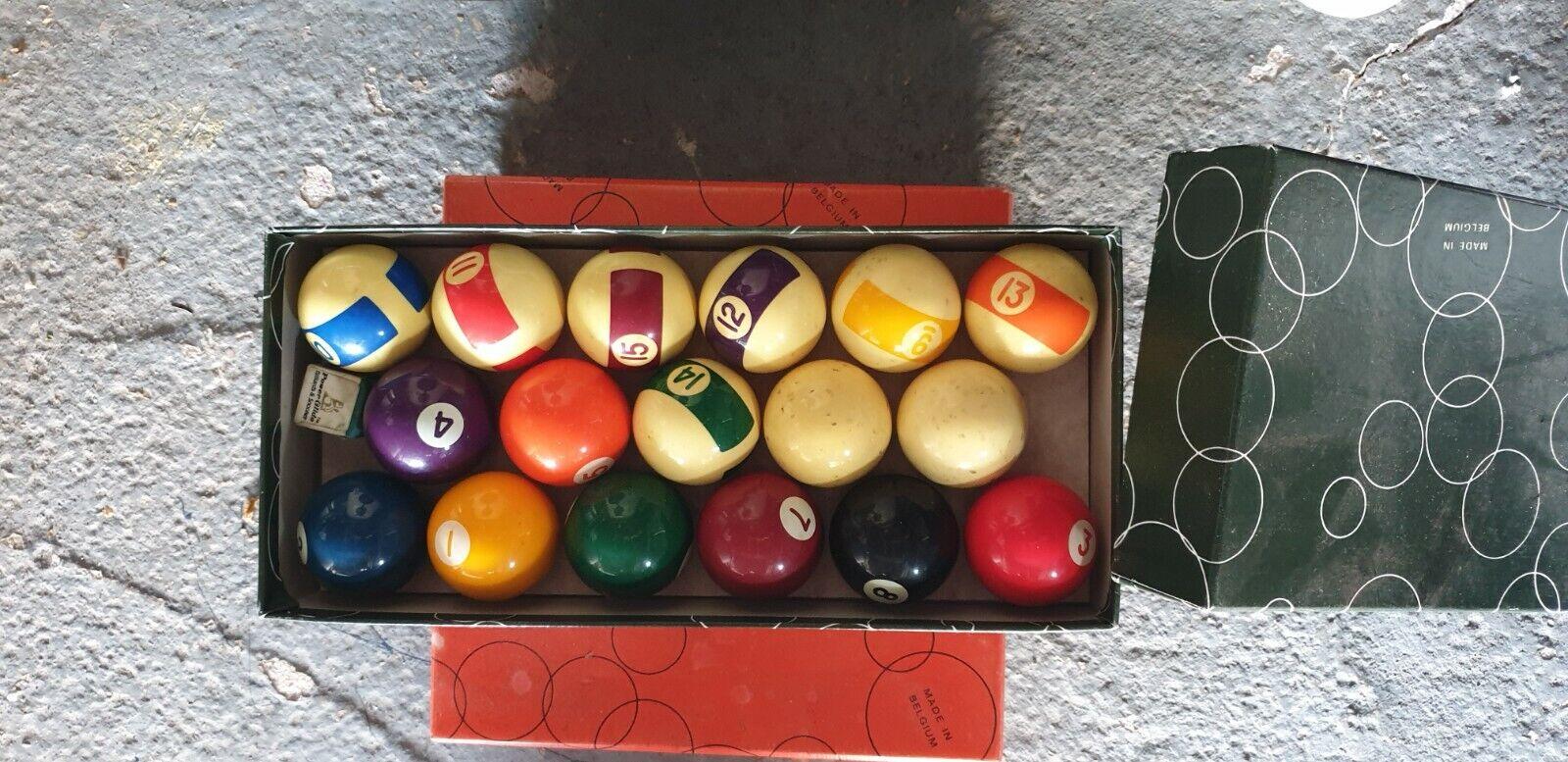 snooker and pool balls 1 7/8