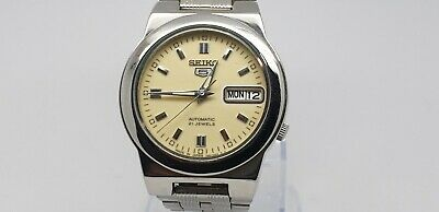 VINTAGE SEIKO 7S26-01R0 AUTOMATIC DAY/DATE 21 JEWELS JAPAN MADE MEN'S WATCH