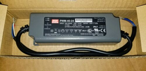 Mean Well PWM-40-24 AC/DC LED Power Supply (40W) 24v 1.67A