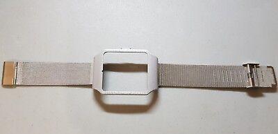 Sony SmartWatch 3 SWR50  Silver Housing (Adapter) & Silver Metal Mesh Strap