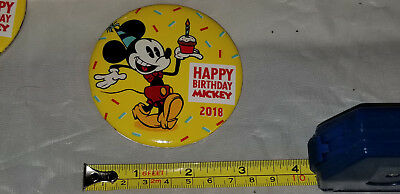 NEW Disneyland Mickey Mouse 90th Birthday Exclusive Button Pin! Happy Birthday!](Happy Birthday 90th)