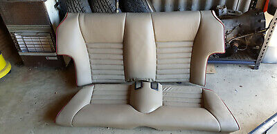 JAGUAR XJS 1990 Rear Leather Seats in Cream with Red Piping Good Condition