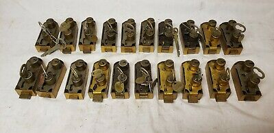 Lot Of 20 Old Bank Vault Safe Deposit Key Locks Vintage Antique Diebold Yale