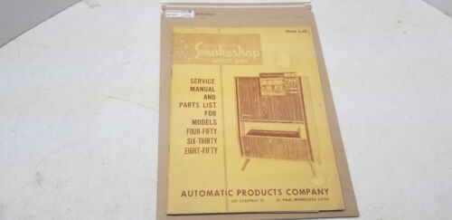 vintage Smokeshop Manual #1386