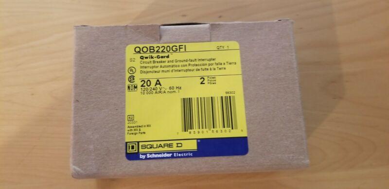 SQUARE D QOB220GFI 20A 240V 2Pole NEW IN BOX