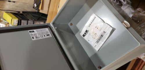 NEW EXM 5412 ESCH121005 nema type 4 12  Outdoor Enclosure W/ Backplate