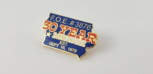 Fraternal Order of Eagles F.O.E. #3876 30 Year Member 1979 Lapel Pin