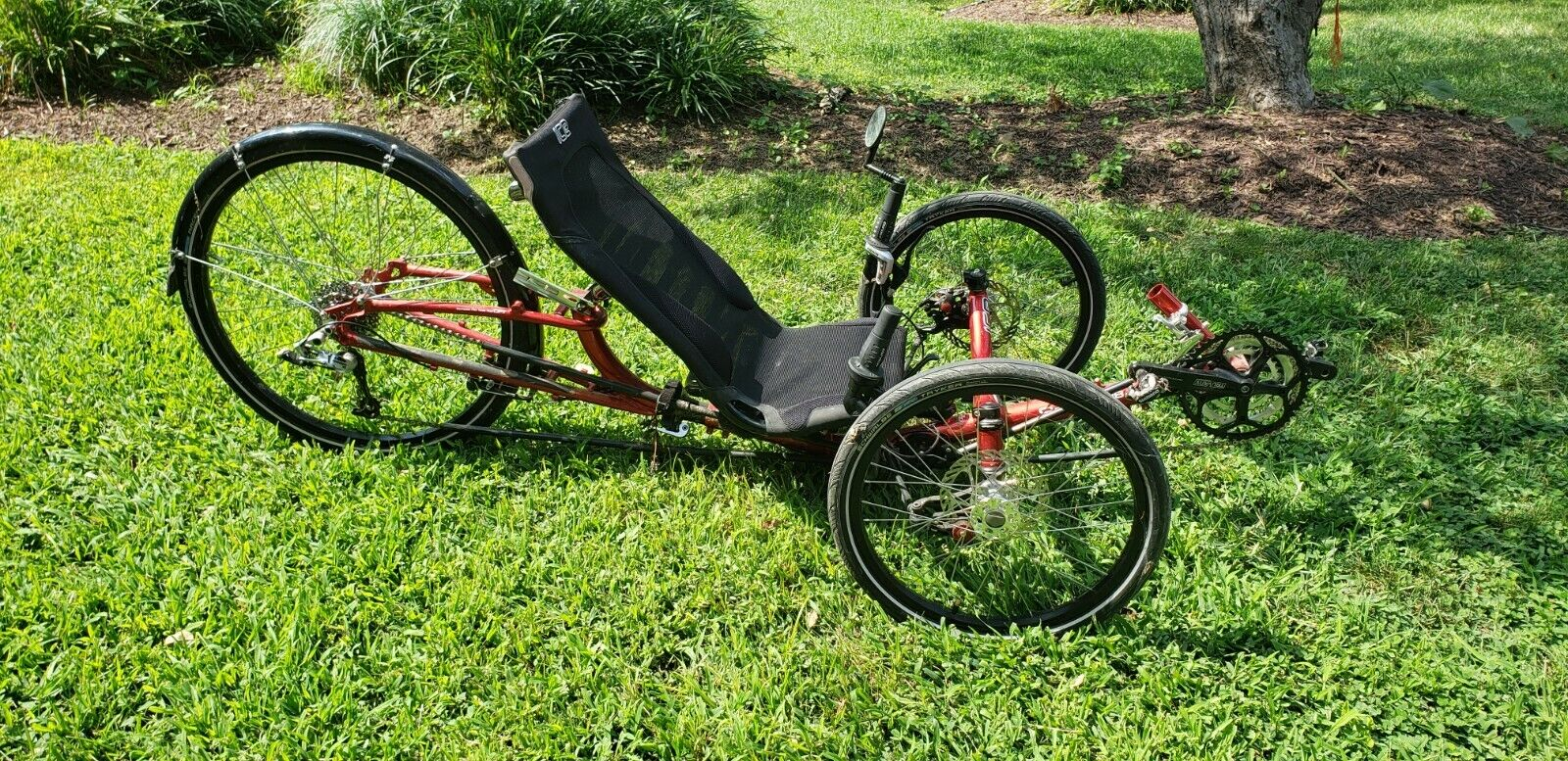 ICE Sprint foldable red recumbent tricycle in great condition (Used - 2500 USD)