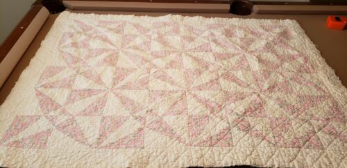 """Vintage Hand Made Baby Quilt 34"""" x 48"""""""