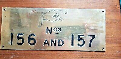Vintage Brass Hotel direction Door Numbers
