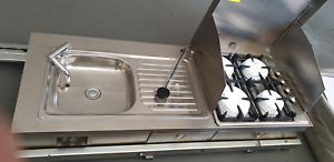 Stainless steel side out camper kitchen Midvale Mundaring Area Preview