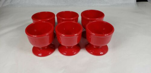 Vintage Emsa Red Egg Cups  Set of 6 Made in W. Germany