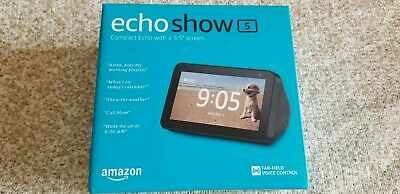 Amazon Echo Show 5 Smart Display with Alexa - Charcoal Brand New Factory Sealed
