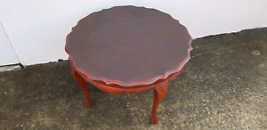 Scalloped Edge Round Coffee Table Stafford Heights Brisbane North West Preview