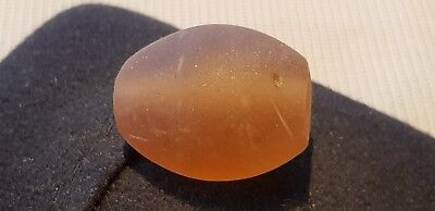 Early Medieval large glass bead beautiful ancient artifact very wearable L53a
