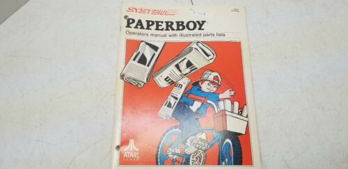 Paperboy atari 1984 arcade video game Manual #4439