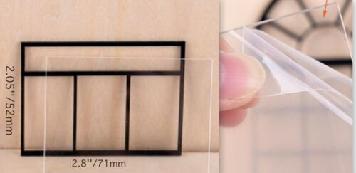 1:25 Scale Acrylic Material One Black Window with grid and Plexiglass Miniature