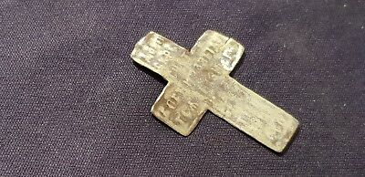 Superb very old bronze crucifix pendant.  Please read description. L4s