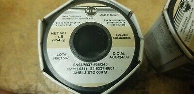 Kester Solder 58245 Sn63pb37 - .8mm .031 Full 1 Lb Roll -- New