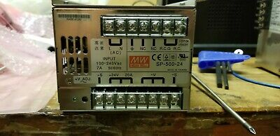 Mean Well Sp-500-24 Power Supply 100-240 Vac Input 24 Vdc Output