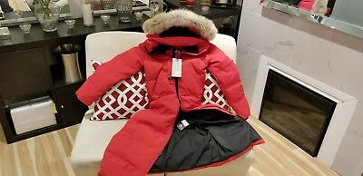BNWT 2019 GREY LABEL EDITION 100% LADY RED CANADA GOOSE MYSTIQUE LG PARKA JACKET
