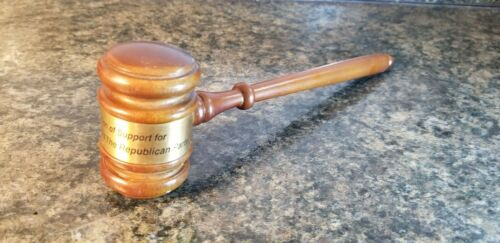 President George Bush GOP Republican party wooden gavel support recognition