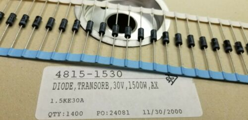 (100 pcs.) 1.5KE30A TVS Diode 30V 1500W AX Transorb **NEW** taped