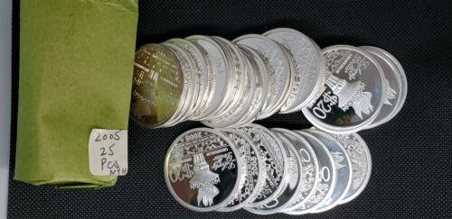 2005 NORFED Rare $20 Liberty 1 oz .999 Silver Bernard Von Nothaus - Beautiful