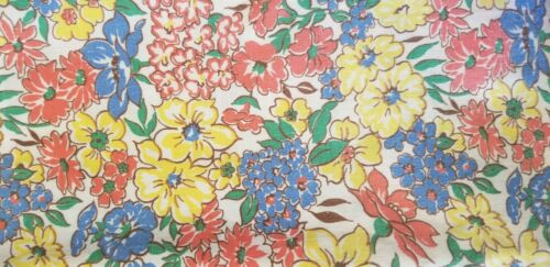 Original Vintage Feed Sack Bright Multicolored Floral FULL SIZE