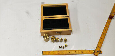 9-pc Brass Scale Calibration Weight Set 1-100 Gram Weights Listed Below. Shlf W3