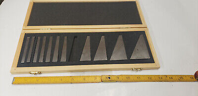 Fowler 53-666-000-0 Angle Gage Block Set Machinist Tool In Case Missing 1-block