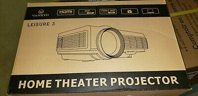 VANKYO LEISURE 3 Mini Projector Supported 1080P 170'' Display 2400 Lux