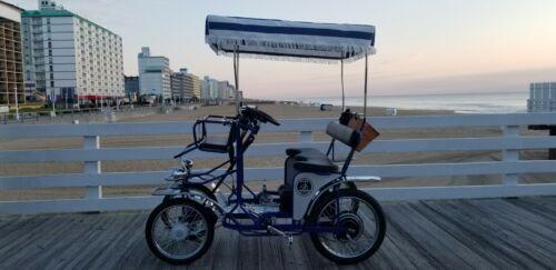 Surrey Bike Single Bench, Blue, Beach Surrey Bikes, 4 wheel bicycle