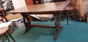 Japanese Wedge Assembled Dining Table 4 Chairs