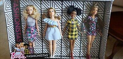 Barbie Fashionistas 4 Doll Set (NRFB) (Barbie Fashionistas Doll Set)