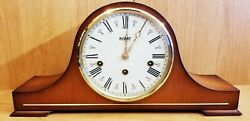 Vintage Hermle Triple Chime Mantel Clock 1050-020 w/ Key Haid  Collection Shape
