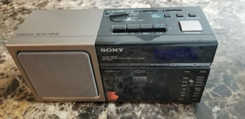 Sony Dream Machine FM Radio Digital Clock Radio Cassette Player ICF-C80W 90s VTG