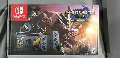 Nintendo Switch Monster Hunter Rise Deluxe Edition Console with preorder code