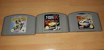 Excitebike 64, Top Gear Overdrive, F-Zero X - N64 Nintendo 64 - PAL - VGC
