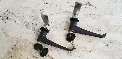 L Handle Latch Key Alike Cam Lock Plastic Black Cabinet Box Panels 111.2.0.01.42