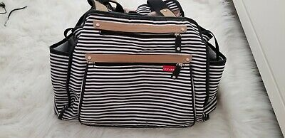 Skip Hop Grand Central Take-It-All Diaper Bag Tote French Stripe Baby Large