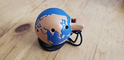 8 Hole Ocarina Globe Earth Blue Ceramic Clay Pendant Cord Round Music instrument