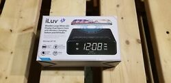 Iluv Wireless Charging Alarm Clock Radio With Led White Display, Dual Alarm, Sup