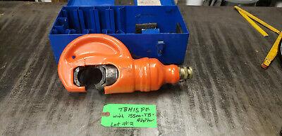 Thomas Betts Tbm15pf 15-ton Insulated Remote Hydraulic Crimp Head Wbox Lot2